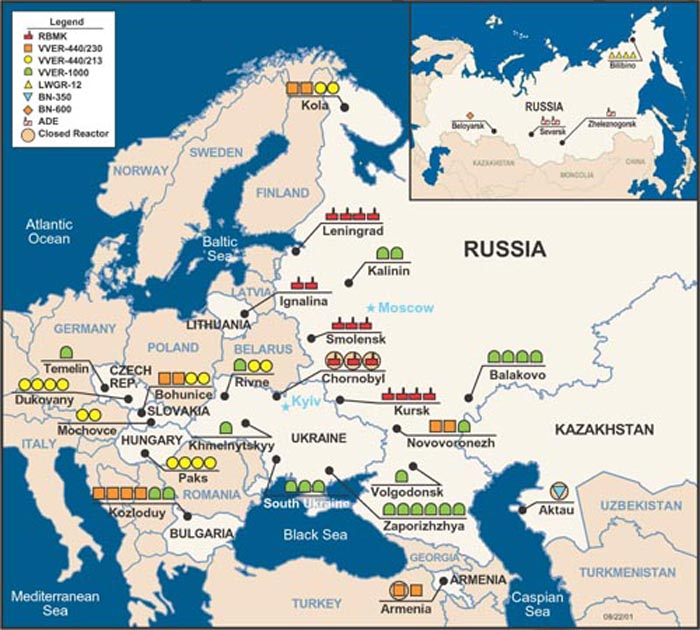 Russian Resources Map